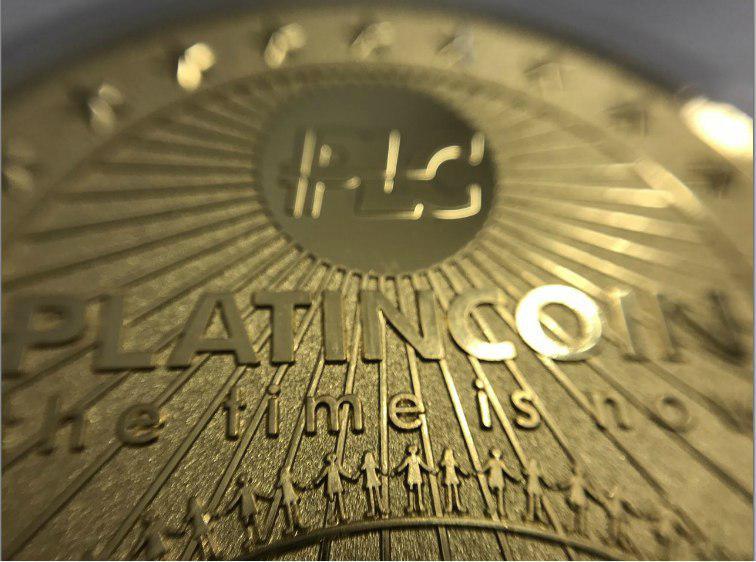 золотая монета плс, Platin Genesis DMCC, platincoin, платинкоин,